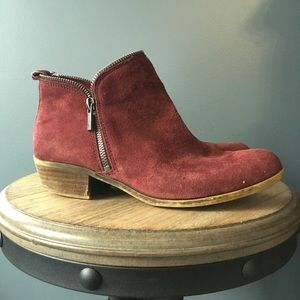 Red suede lucky brand bartalino boot